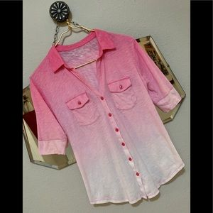Lovely pink ombré cotton shirt❤️